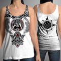 All Over Printed Viking Tattoo Shirts-Apparel-HP Arts-Women's Tank Top-S-Vibe Cosy™