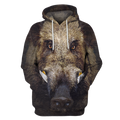 3D All Over Print Hunting Wild Boar Hoodie-Apparel-6teenth World-Hoodie-S-Vibe Cosy™