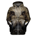 3D All Over Print Hunting Wild Boar Hoodie-Apparel-6teenth World-Zip-S-Vibe Cosy™