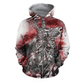 3D All Over Printed Templar Shirts-Apparel-HP Arts-ZIPPED HOODIE-S-Vibe Cosy™