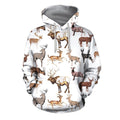 3D All Over Printed Hunting Deer Shirts and Shorts-Apparel-6teenth World-Hoodie-S-Vibe Cosy™