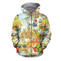 3D All Over Print Anime Japan Hoodie-Apparel-Khanh Arts-Zipped Hoodie-S-Vibe Cosy™