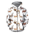 3D All Over Printed Hunting Deer Shirts and Shorts-Apparel-6teenth World-ZIPPED HOODIE-S-Vibe Cosy™