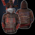 3D All Over Printed Samurai Armor Tops For Men-Apparel-HP Arts-ZIPPED HOODIE-S-Vibe Cosy™