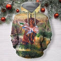 3D All Over Print Hunting Dog Duck Hoodie-Apparel-Phaethon-Zipped Hoodie-S-Vibe Cosy™