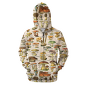 3D All Over Print Champignons Hoodie-Apparel-6teenth World-Zip Up Hoodie-S-Vibe Cosy™