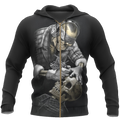 Tattoo Is My Life And Skull Is My Love PL213-Apparel-PL8386-Zipped Hoodie-S-Vibe Cosy™