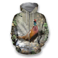 All Over Printed Pheasant Hunting Camo Shirts-Apparel-HbArts-Zip-Hoodie-S-Vibe Cosy™