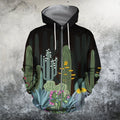 3D All Over Printed Black cactus Shirts-Apparel-NTH-Zip-S-Vibe Cosy™