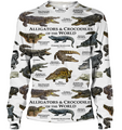 3D All Over Print Alligator & Crocodile Hoodie-Apparel-6teenth World-Sweatshirt-S-Vibe Cosy™