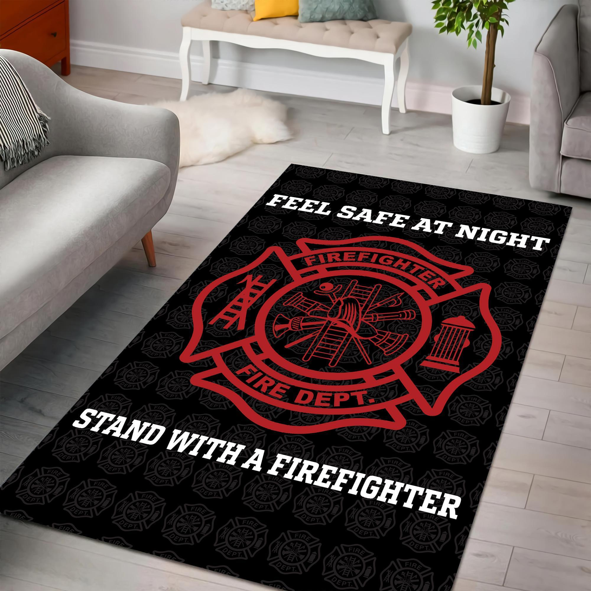 Feeling Safe With Firefighter Premium Rug DQB08042003-TQH
