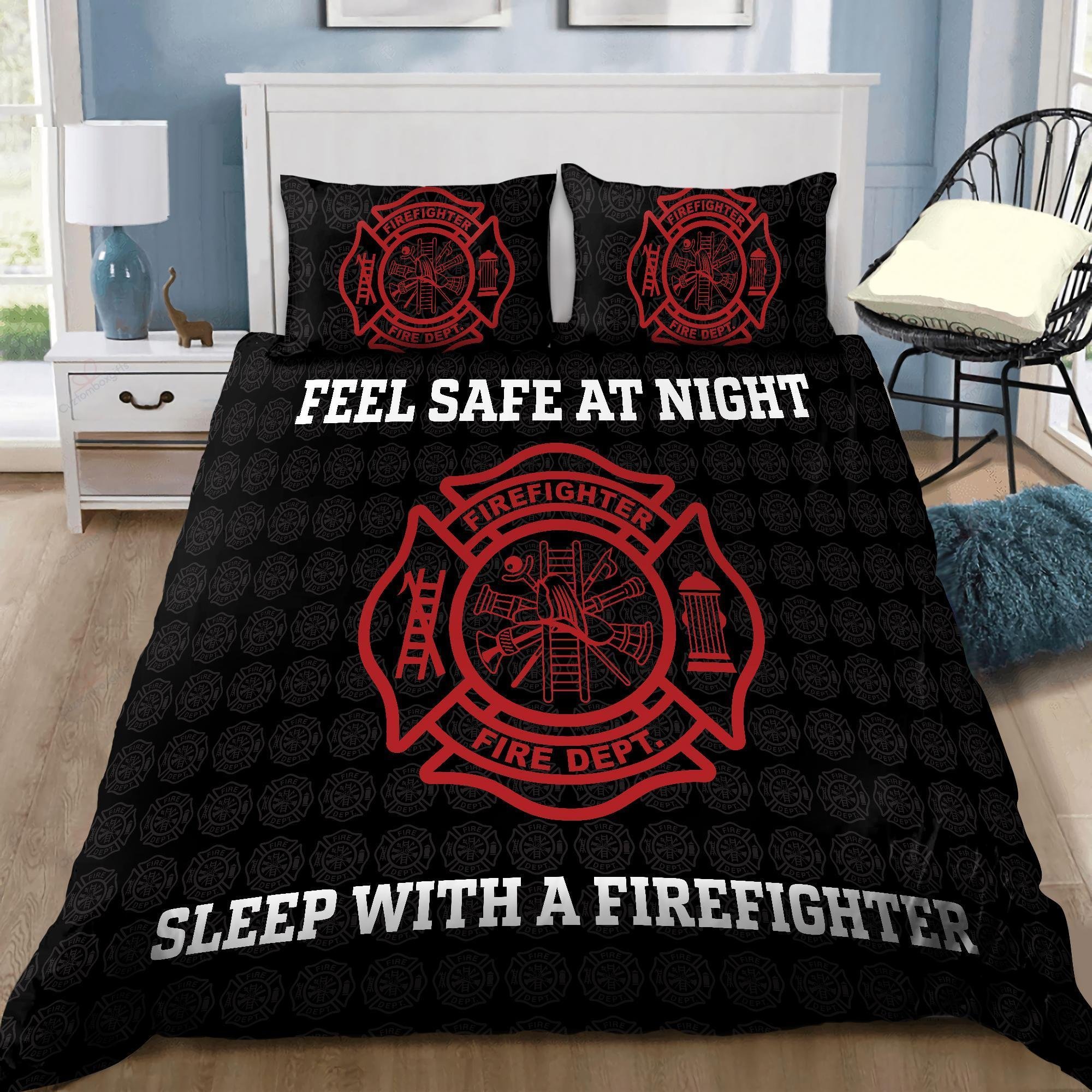 Feeling Safe With Firefighter Bedding Set DQB08042003-TQH