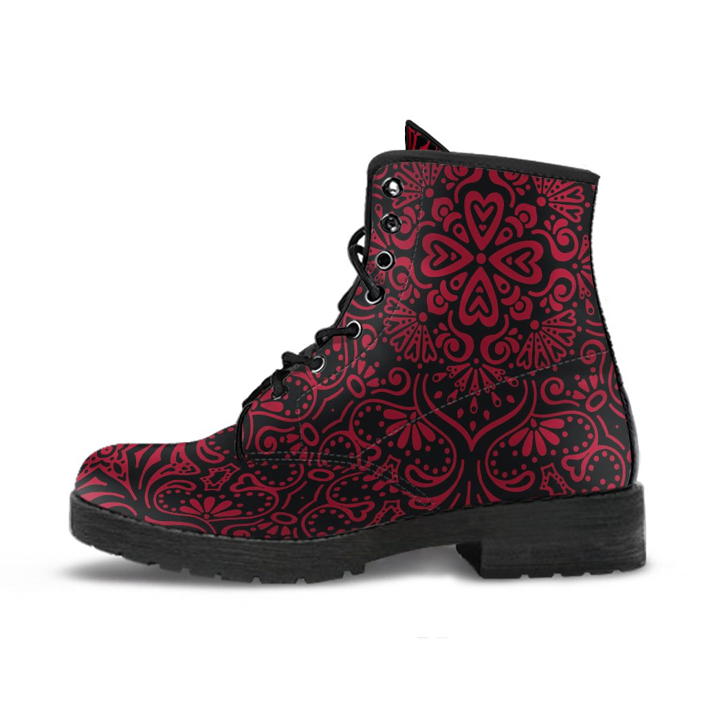 Bohemian Fiesta (Red Jester) - Vegan Leather Boots-Amaze Style™-Women's Leather Boots - Bohemian Fiesta (Red Jester) - Vegan Leather Boots-US5 (EU35)-Vibe Cosy™