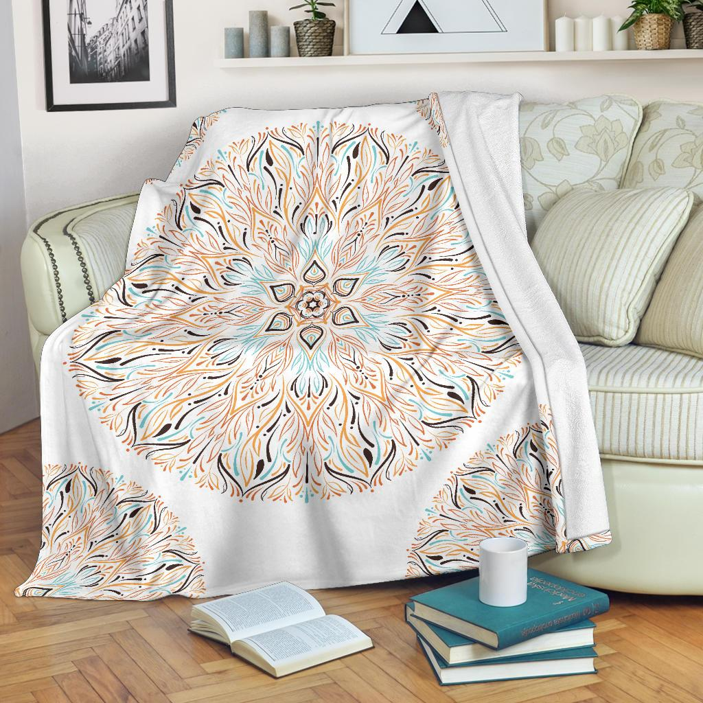 Mandala P1 (White) - Throw Blankets-Amaze Style™-Premium BlanketMandala P1 (White) - Throw Blankets-Youth (56 x 43 inches / 140 x 110 cm)-Vibe Cosy™