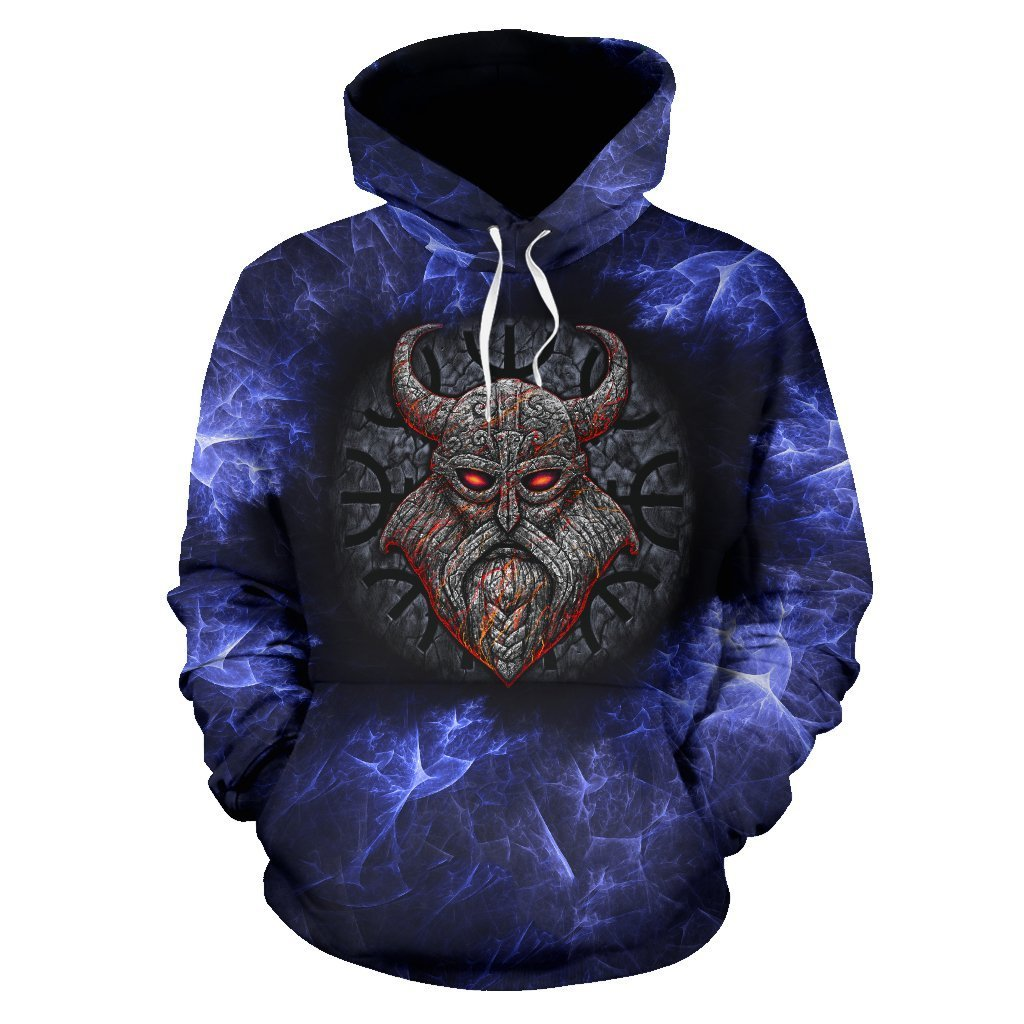 Stone Viking With a Horned Helmet Pullover Hoodie A7-ALL OVER PRINT HOODIES (P)-HP Arts-Hoodie-S-Purple-Vibe Cosy™