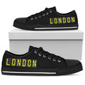 Airport Destinations LONDON (Black) - Low Top Canvas Shoes-Amaze Style™-Womens Low Top - Airport Destinations LONDON (Black) - Low Top Canvas Shoes-US5.5 (EU36)-Vibe Cosy™