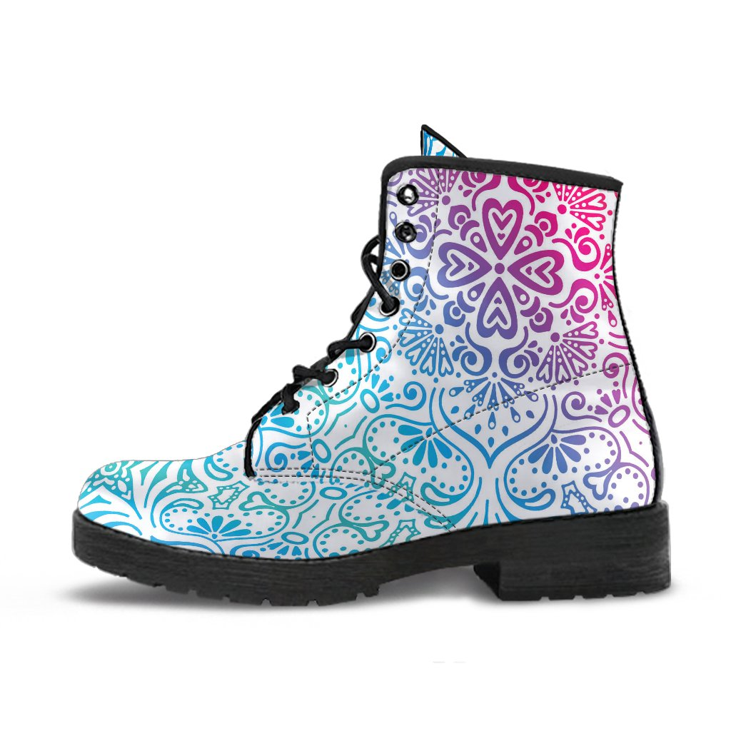 Bohemian Rainbow (White) - Vegan Leather Boots-Amaze Style™-placeholder-placeholder-Vibe Cosy™