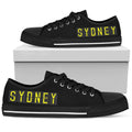 Airport Destinations SYDNEY (Black) - Low Top Canvas Shoes-Amaze Style™-placeholder-placeholder-Vibe Cosy™