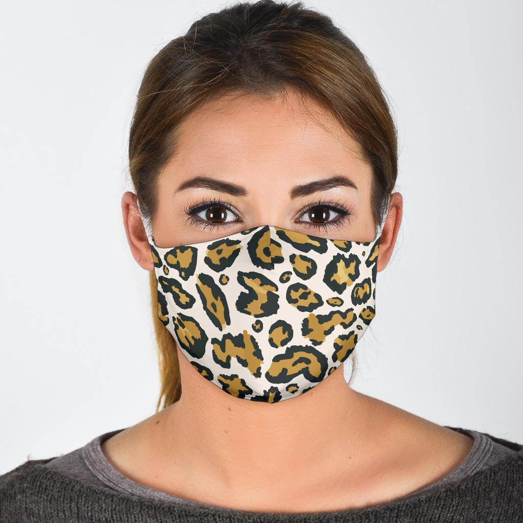 Cheetah Print Face Mask-Amaze Style™-Face Mask - Cheetah Print Face Mask-Adult Mask + 2 FREE Filters (Age 13+)-Vibe Cosy™