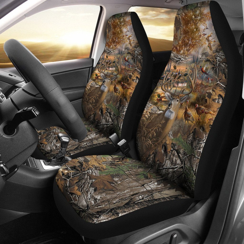 2 pcs Hunting Camo Car Seat Covers-HP Arts-Car Seat Covers - 2 pcs Hunting Camo Car Seat Covers-Universal Fit-Vibe Cosy™