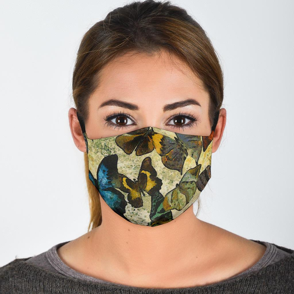 Butterfly Collection Adjustable Face Mask-Amaze Style™-Face Mask - Butterfly Collection Adjustable Face Mask-Adult Mask + 2 FREE Filters (Age 13+)-Vibe Cosy™
