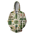 3D All Over Print Cacti Shirt-Apparel-NTH-Zipped Hoodie-S-Vibe Cosy™