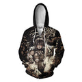 3D All Over Print Bird's Eye Fine Hoodie-Apparel-HD09-Zipped Hoodie-S-Vibe Cosy™