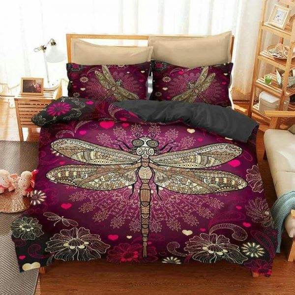 Dragonfly back to december bedding set HG71012-HG-US Twin-Vibe Cosy™