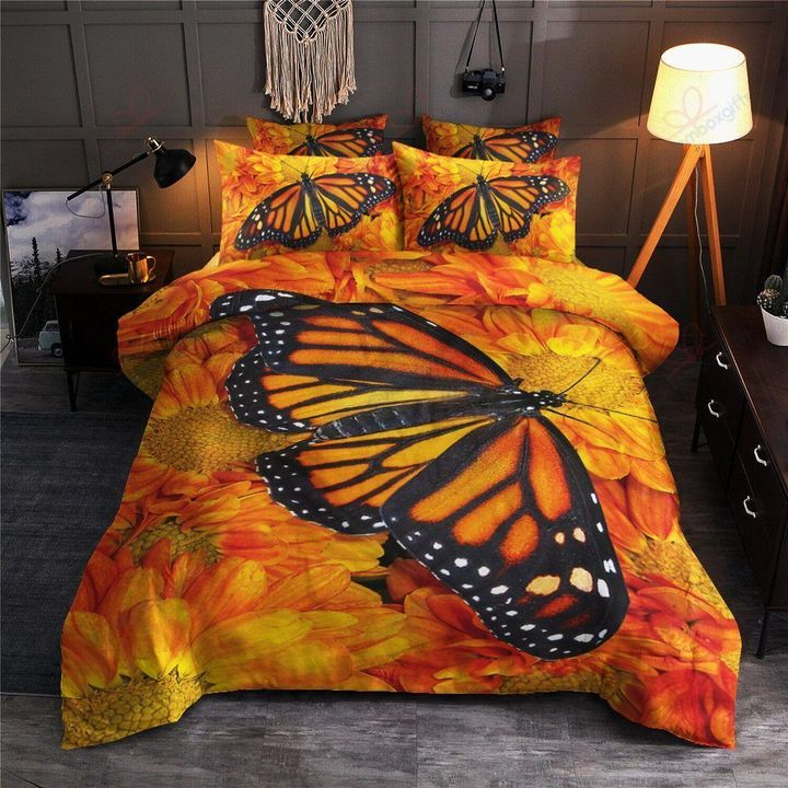 Butterfly sunflower bedding set HG71111-HG-US Twin-Vibe Cosy™