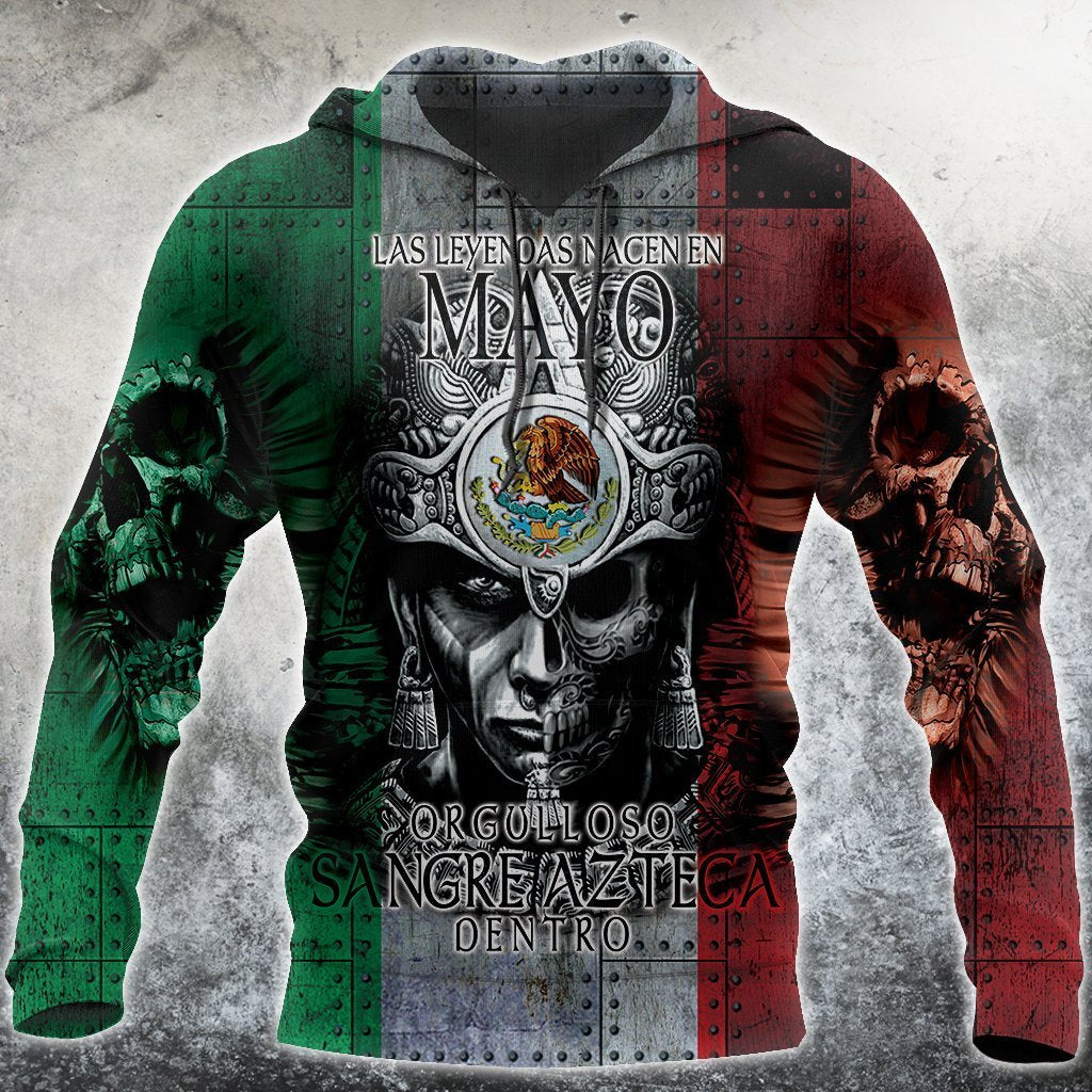 3D All Over Aztec Warrior Mexican 05 Hoodie - Amaze Style™-Apparel