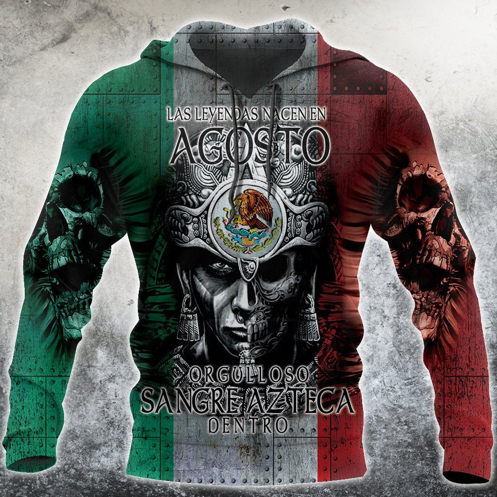 3D All Over Aztec Warrior Mexican 08 Hoodie - Amaze Style™-Apparel