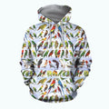 3D All Over Printed Parrots Shirts-Apparel-6teenth World-Hoodie-S-Vibe Cosy™