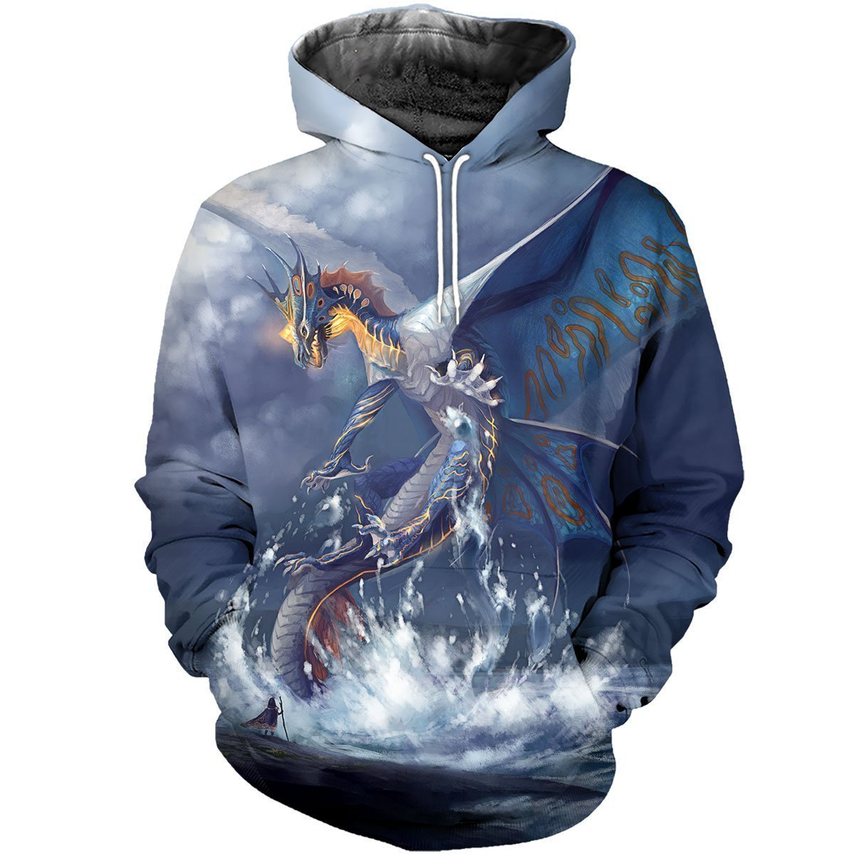 3D All Over Printed Blue Dragon Shirts-Apparel-HP Arts-Hoodie-S-Vibe Cosy™