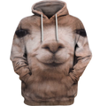 3D All Over Print Llama Face Shirt-Apparel-6teenth World-Hoodie-S-Vibe Cosy™