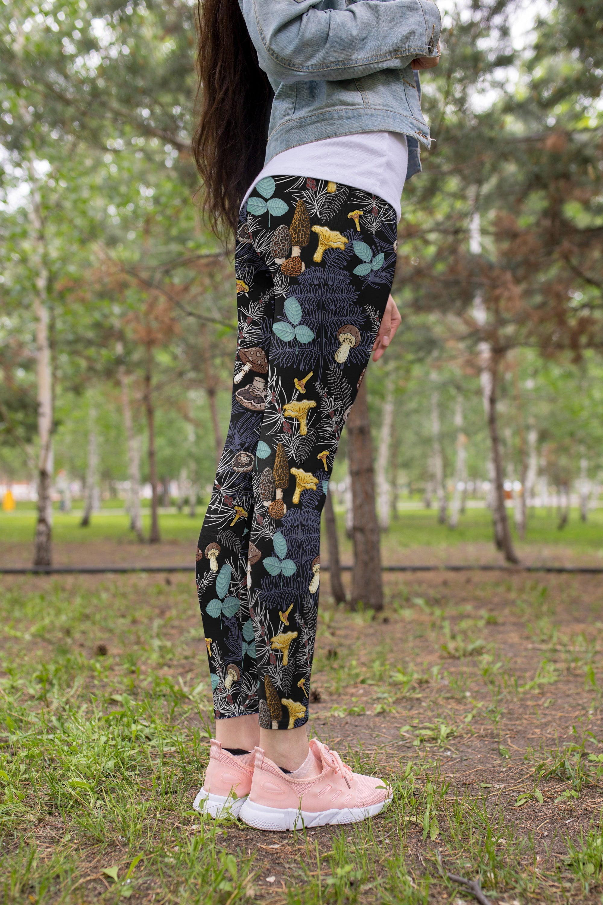3D All Over Print Mushrooms and leaves of forest trees Legging-Apparel-NTH-Legging-S-Vibe Cosy™
