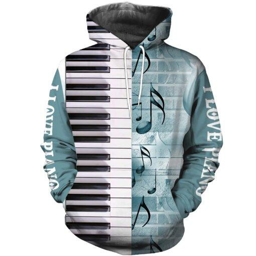 Piano music 3d hoodie shirt for men and women HG12117 - Amaze Style™-Apparel