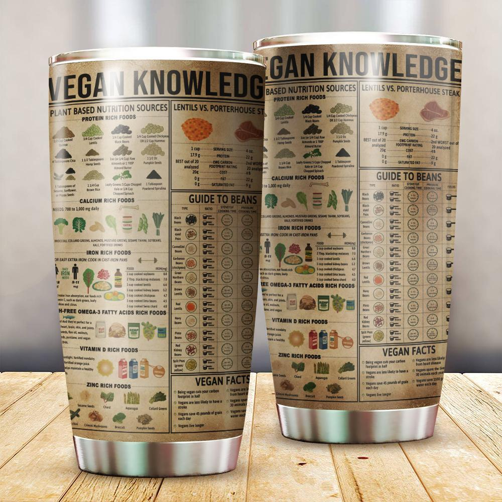 Vegan Knowledge Tumbler TA032325-TA-Vibe Cosy™