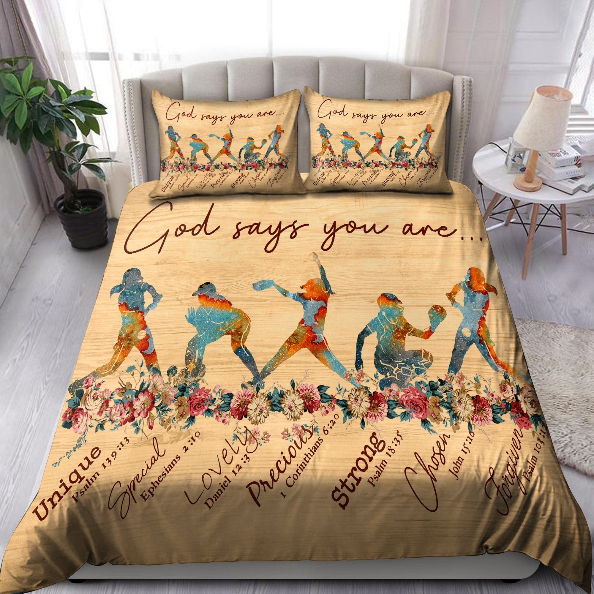 Softball-God Says You Are Bedding Set Pi20072002-Quilt-TA-Twin-Vibe Cosy™