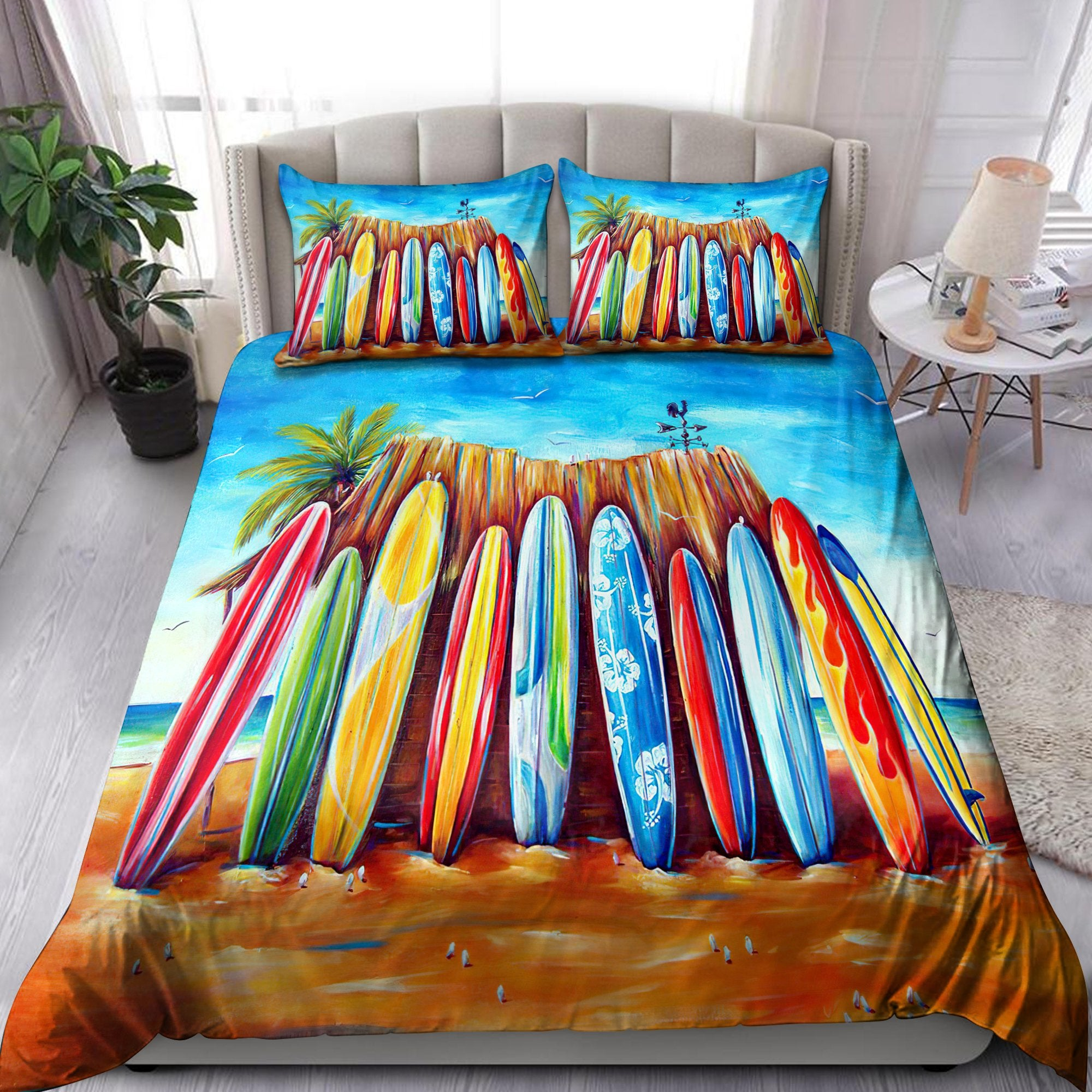 Surfboard and Beach Bedding Set Pi01082004