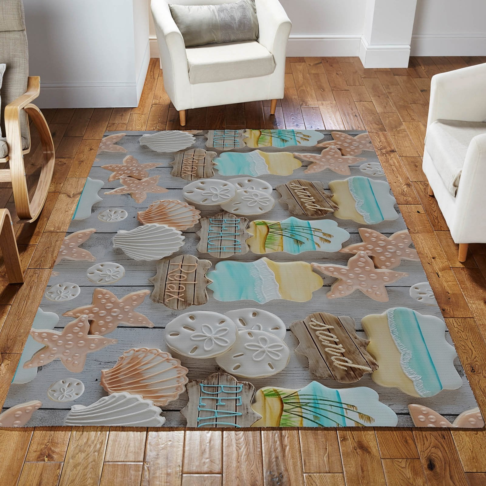 The Beach Stole My heart Rug