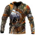 3D All Over Print Camo Deer Hunter Hoodie DD08102001