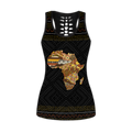 Africa Home Map Combo Tank + Legging DD08142002