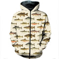 3D All Over Printed North American Fishes Shirts-Apparel-HP Arts-ZIPPED HOODIE-S-Vibe Cosy™
