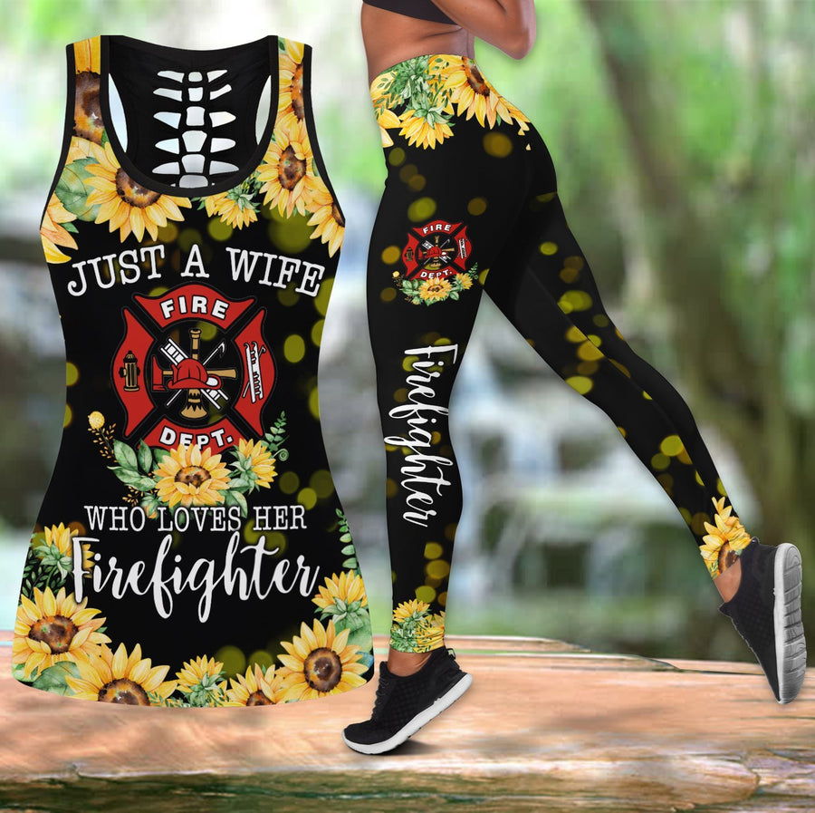 Sunflower Firefighter Wife Combo Tank + Legging DD09092002