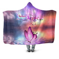 3D All Over Butterflies Art Pink Hoodie Dress Blanket-Apparel-TA-Hooded Blanket-Youth 49.6x59.05-Vibe Cosy™