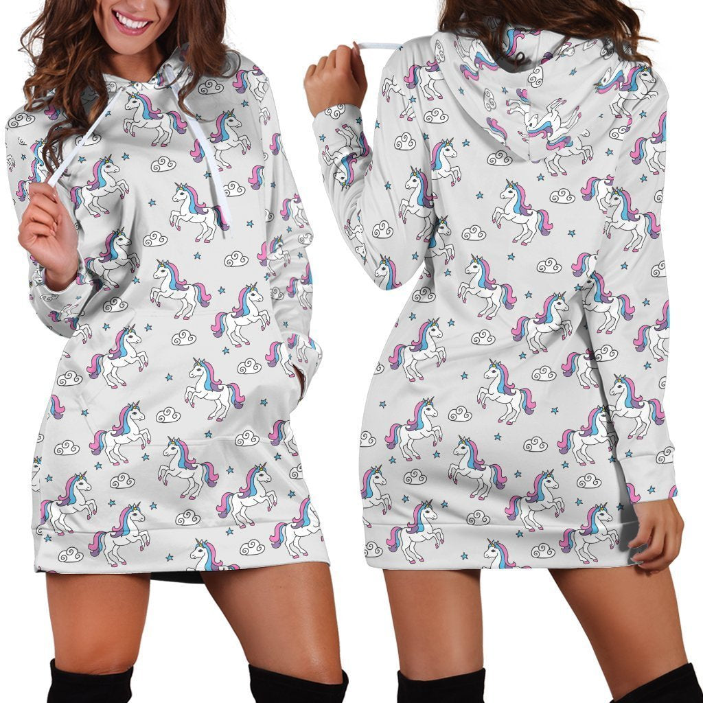 3D All Over Cute Unicorn And Rainbow Legging-Apparel-Phaethon-Hoodie Dress-S-Vibe Cosy™