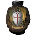 3D All Over Printed Knights Templar Shirts and Shorts-Knights Templar-RoosterArt-Hoodie-XS-Vibe Cosy™
