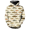 3D All Over Printed North American Fishes Shirts-Apparel-HP Arts-Hoodie-S-Vibe Cosy™