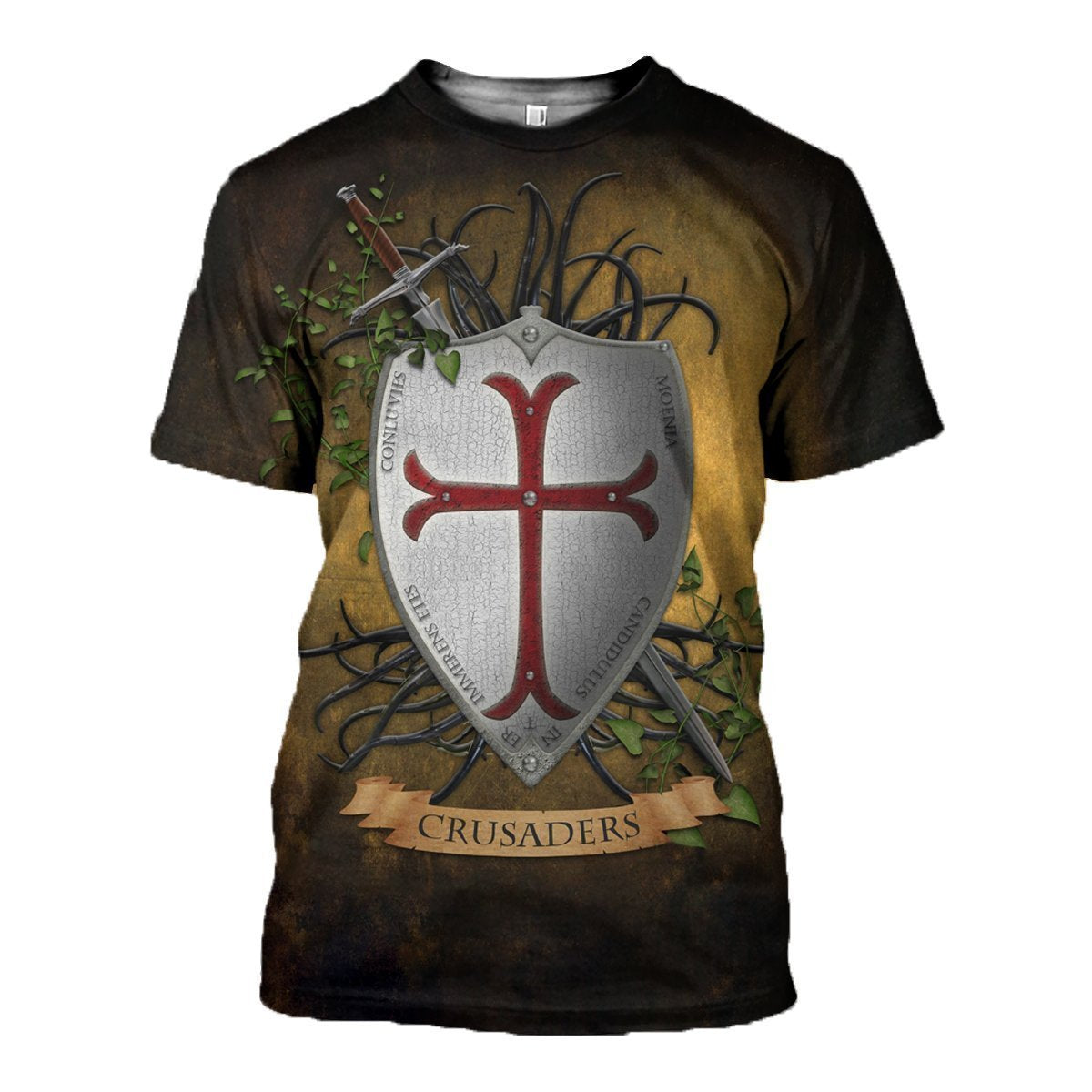 3D All Over Printed Knights Templar Shirts and Shorts-Knights Templar-RoosterArt-T-shirt-XS-Vibe Cosy™