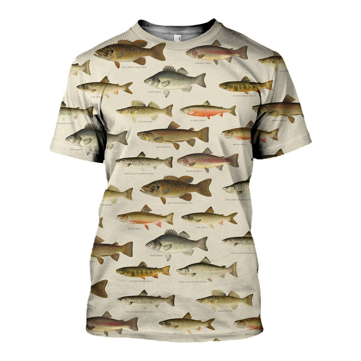 3D All Over Printed North American Fishes Shirts-Apparel-HP Arts-T-Shirt-S-Vibe Cosy™